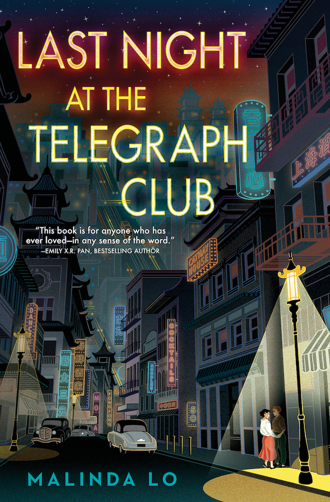 book cover for last night at the telegraph club by malinda lo